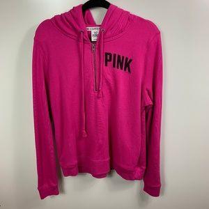 Pink Victoria's Secret hoodie sweatshirt womens L